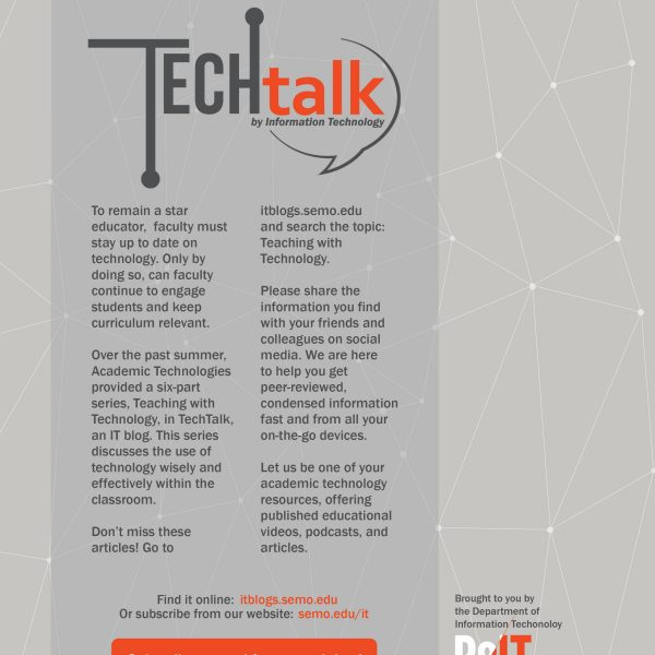 Tech Talk Flyer